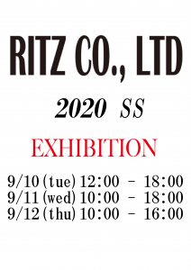 【A】RITZ EXHIBITION 2020SS & 2020AW @ studio and space ivva | 渋谷区 | 東京都 | 日本