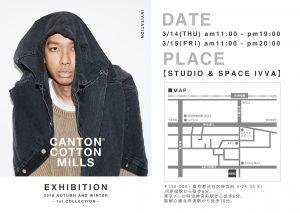 CANTON COTTON MILLS 2019AW EXHIBITION @ STUDIO & SPACE IVVA